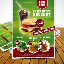 Hamburger, Fast Food, Imbiss Flyer Design für Despri.de #0008